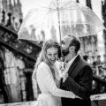 Rainy wedding at Duomo di Milan